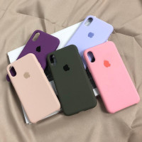 Коралловый силиконовый чехол для iPhone XR Silicone Case