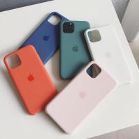 Чехол силиконовый Silicone Case для Apple Iphone 11 PRO MAX, матовый зеленый