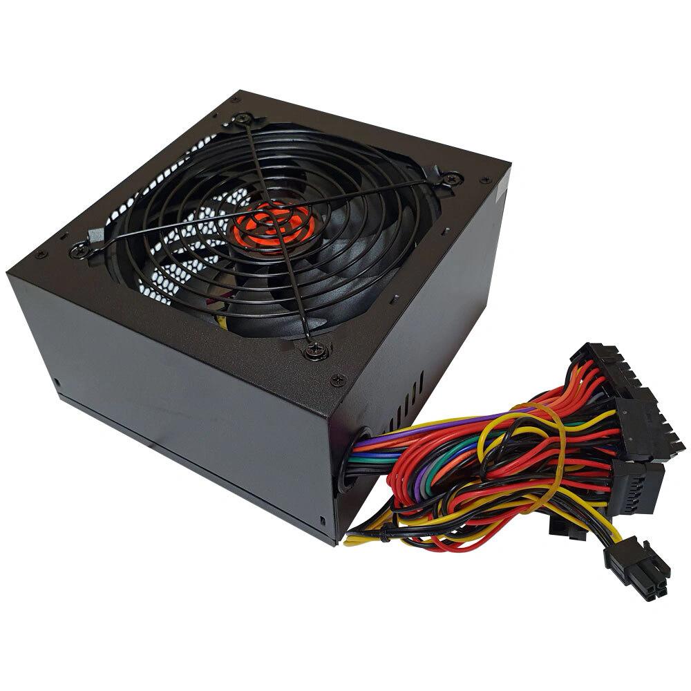 Блок питания Ginzzu SB500 ATX, 12cm fan, 20+4pin +4Pin, 3*SATA, 3*IDE Черный
